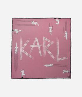 KARL LAGERFELD CHOUPETTE FUN SCARF