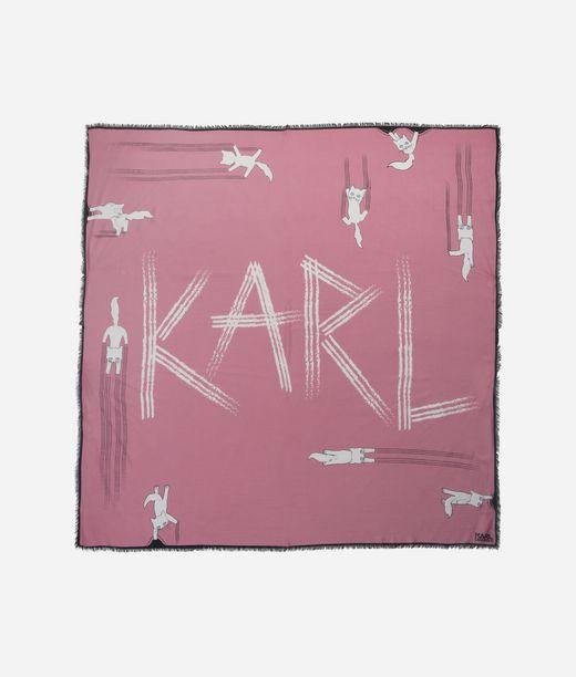 KARL LAGERFELD Foulard amusant Choupette 12_f