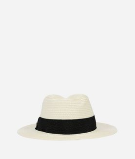 KARL LAGERFELD K/SIGNATURE STRAW HAT