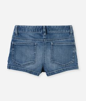 KARL LAGERFELD SIGNATURE DENIM-SHORTS