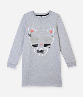KARL LAGERFELD CHOUPETTE SWEAT DRESS