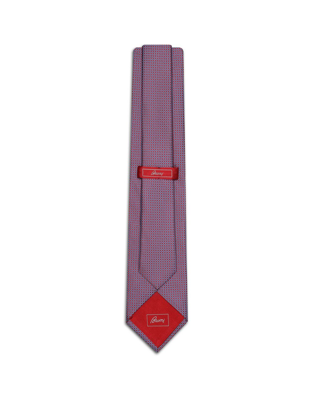 BRIONI Red and Sky Blue Dotted Tie Tie Man r