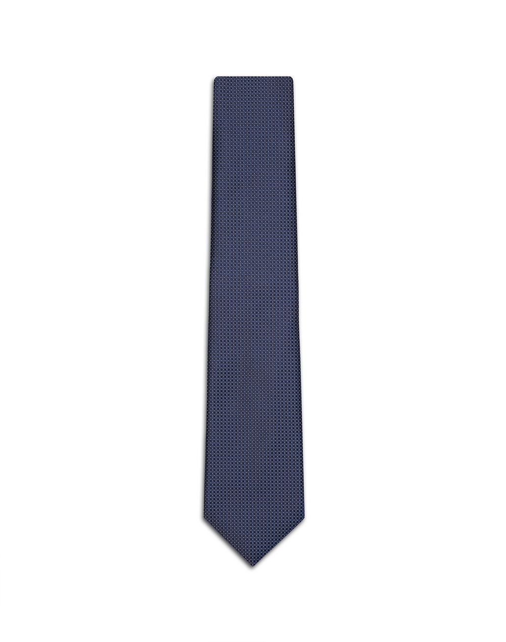 BRIONI Navy Blue and White Dotted Tie Tie [*** pickupInStoreShippingNotGuaranteed_info ***] f