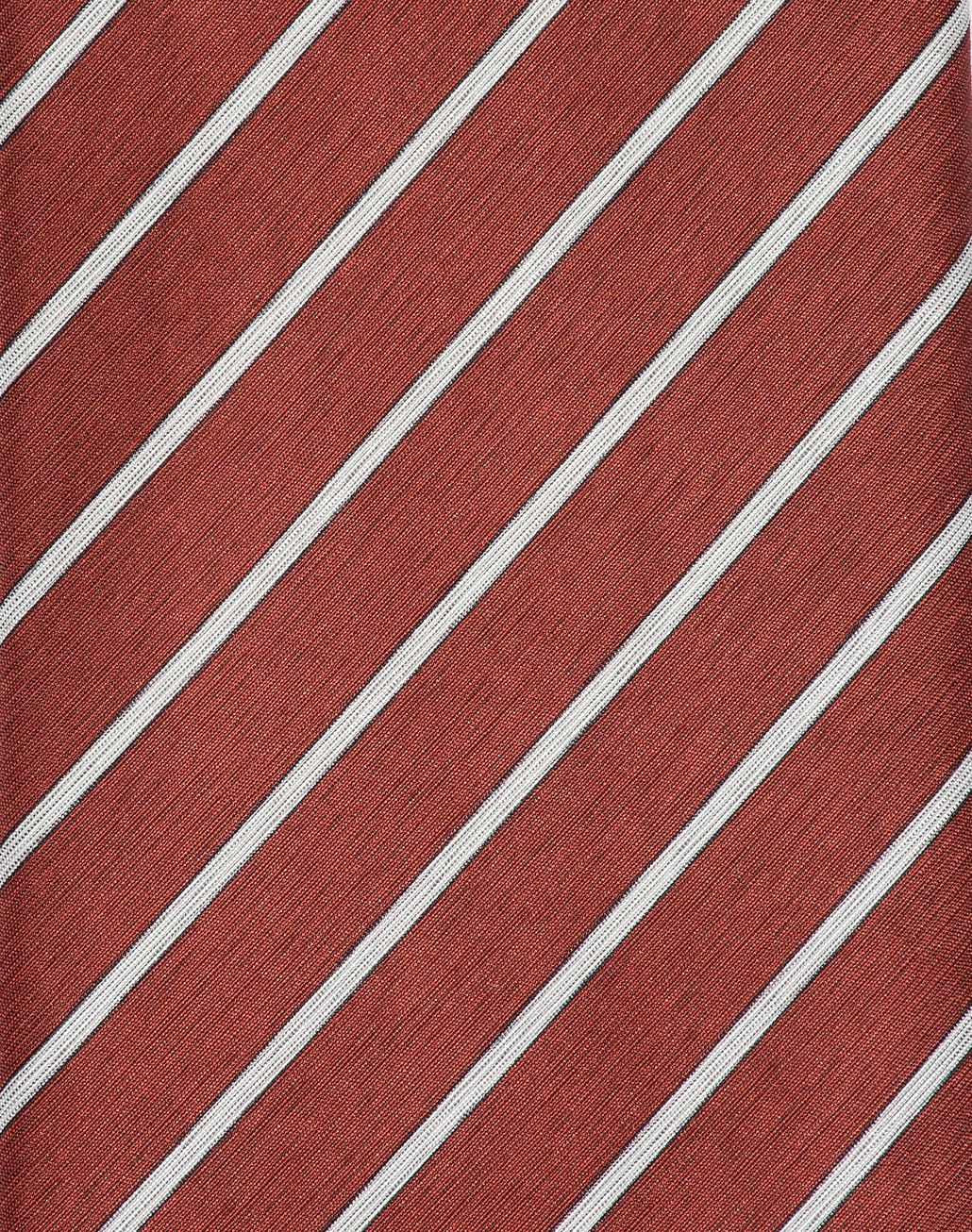 BRIONI Red and Pearl Regimental Tie Tie Man d