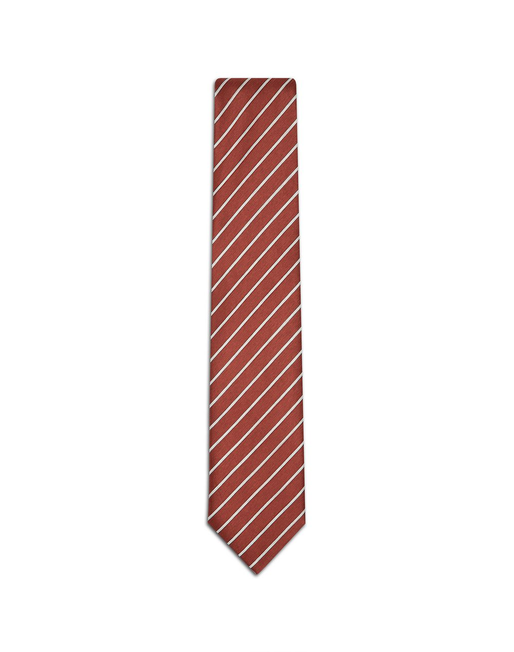 BRIONI Red and Pearl Regimental Tie Tie Man f