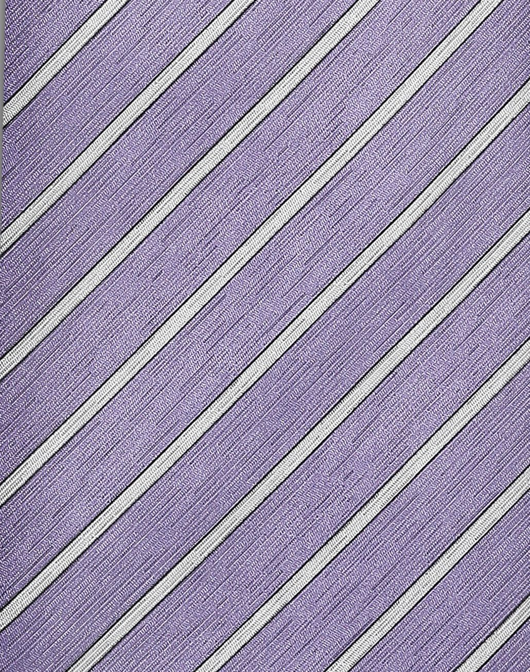 BRIONI Cravate régimentaire lilas et perle Cravate [*** pickupInStoreShippingNotGuaranteed_info ***] d