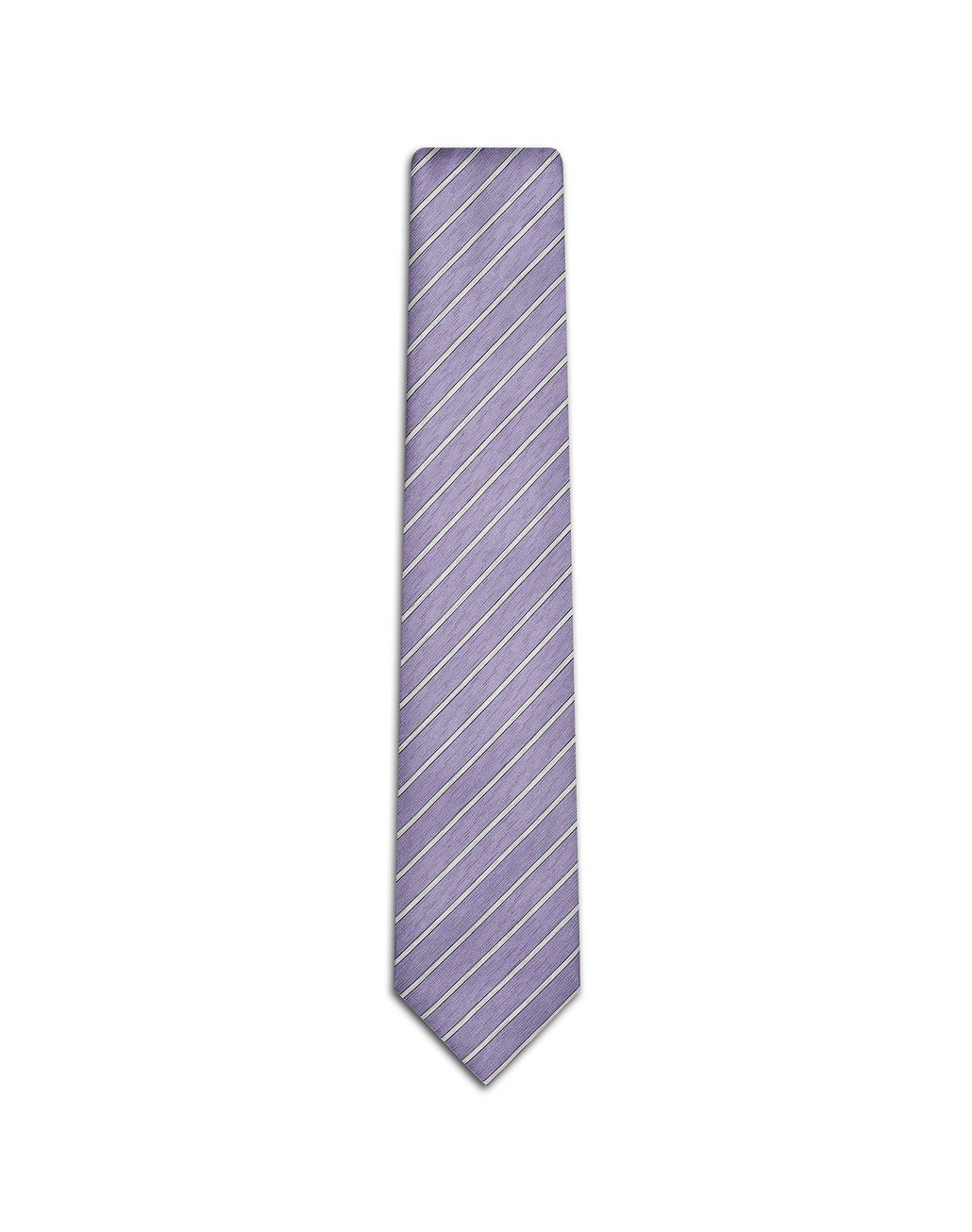 BRIONI Cravate régimentaire lilas et perle Cravate [*** pickupInStoreShippingNotGuaranteed_info ***] f
