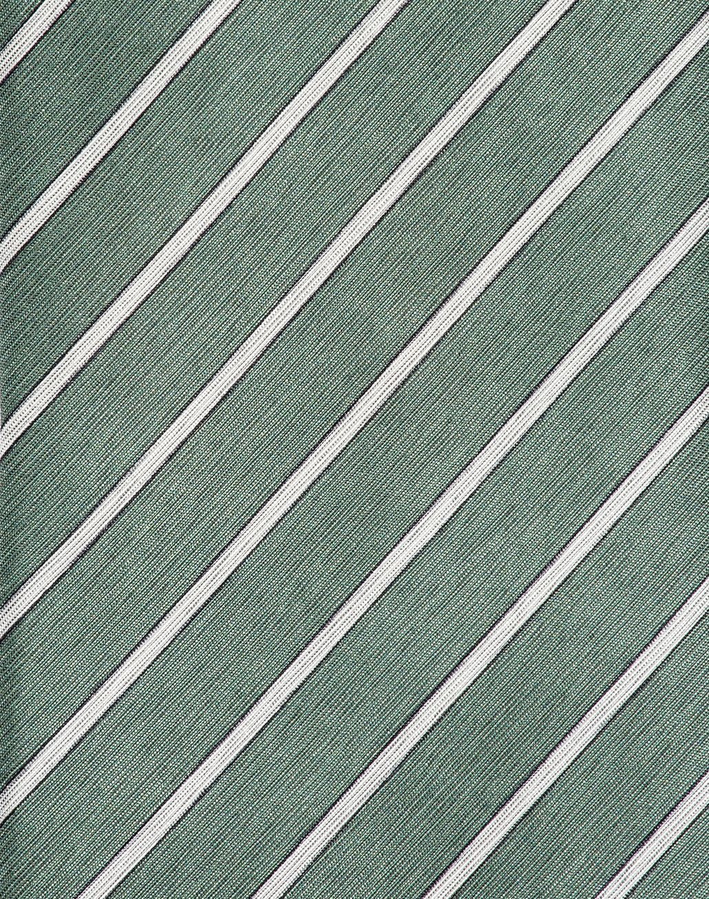 BRIONI Thyme Green and Pearl Regimental Tie Tie [*** pickupInStoreShippingNotGuaranteed_info ***] d