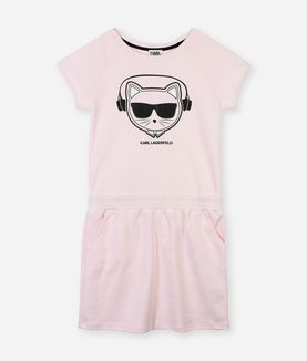 KARL LAGERFELD CHOUPETTE HEADPHONES DRESS