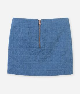 KARL LAGERFELD KUILTED DENIM LOOK SKIRT