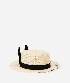 KARL LAGERFELD EARS STRAW HAT