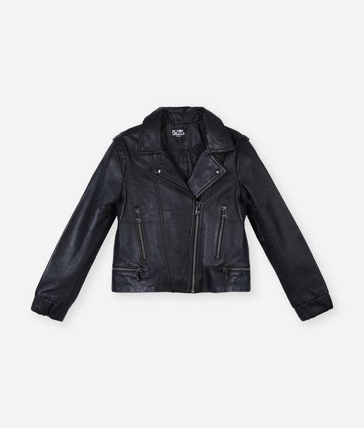 KARL LAGERFELD Odina Leather Biker Jacket 12_f