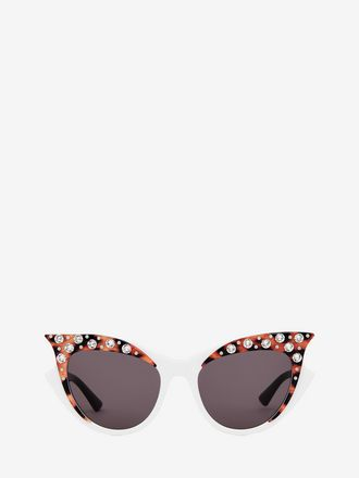 Jewelled Cat Eye Sunglasses