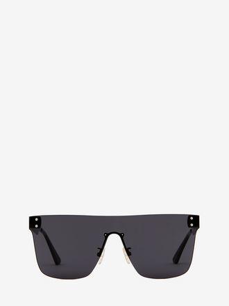 Visier-Sonnenbrille in Metallic-Optik