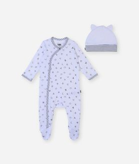 KARL LAGERFELD NEWBORN PAJAMA AND HAT