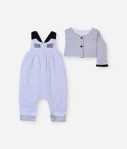 KARL LAGERFELD Newborn overall with cardigan 12_f