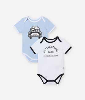 KARL LAGERFELD 2-PACK BOY ROMPERS