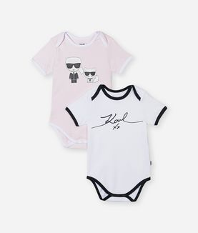 KARL LAGERFELD 2-PACK GIRL ROMPERS