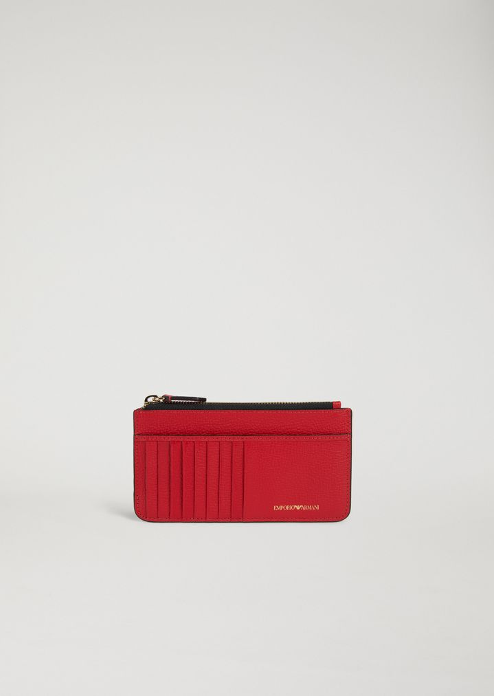 d1740ae46fe4 Card holder in grained leather