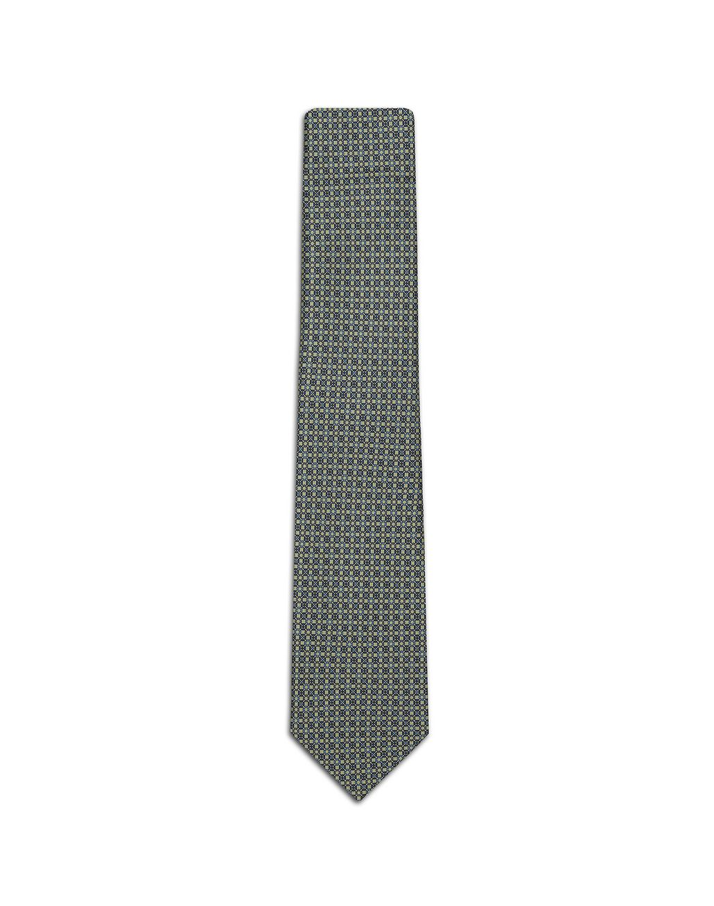 BRIONI Thyme Green and Graphite Design Tie Tie Man f