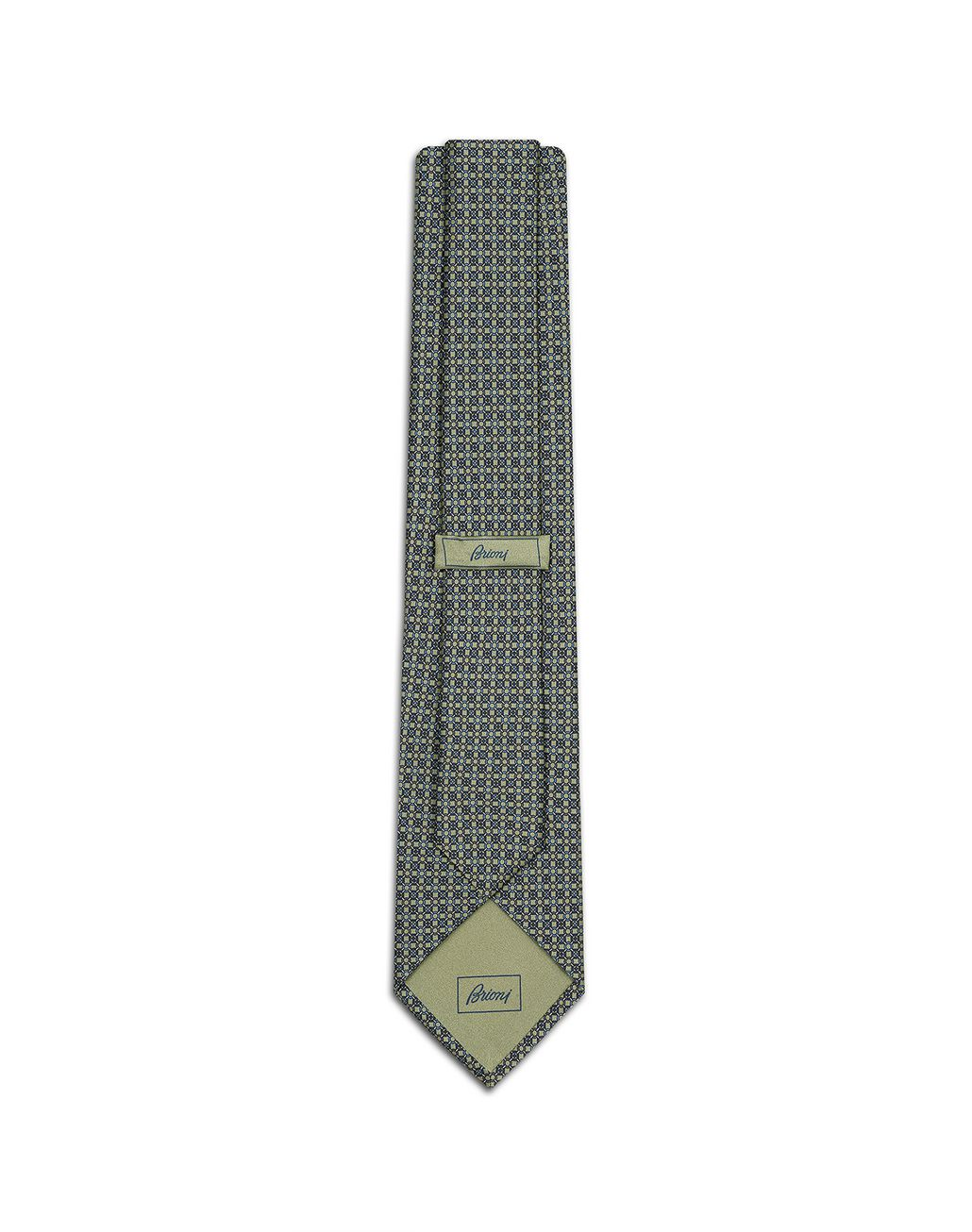 BRIONI Thyme Green and Graphite Design Tie Tie Man r