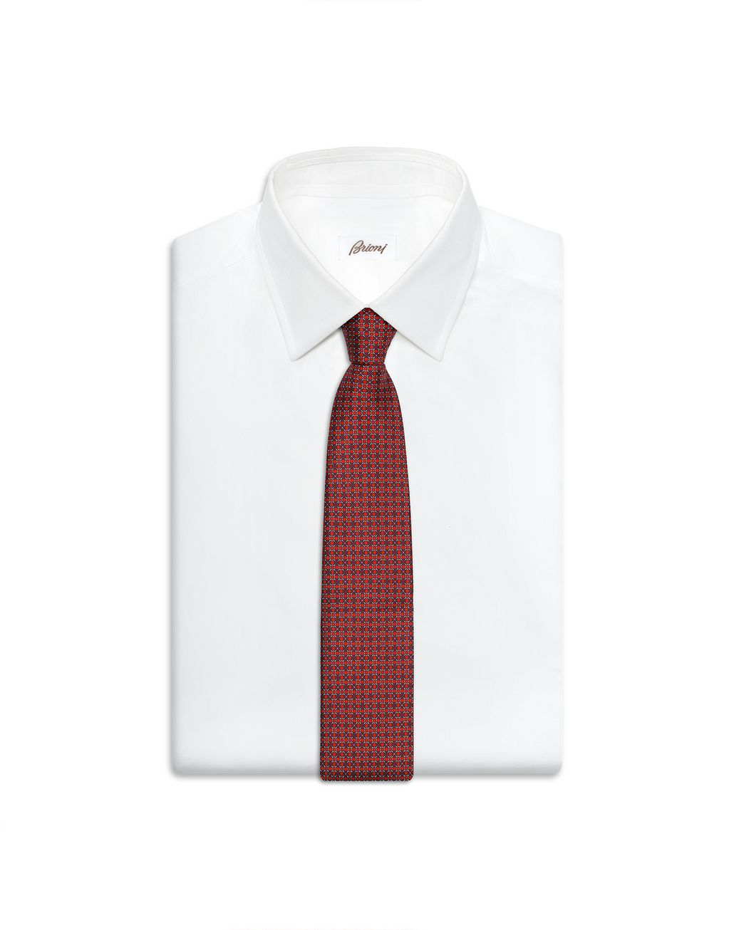 BRIONI Red and Blue Design Tie Tie Man e