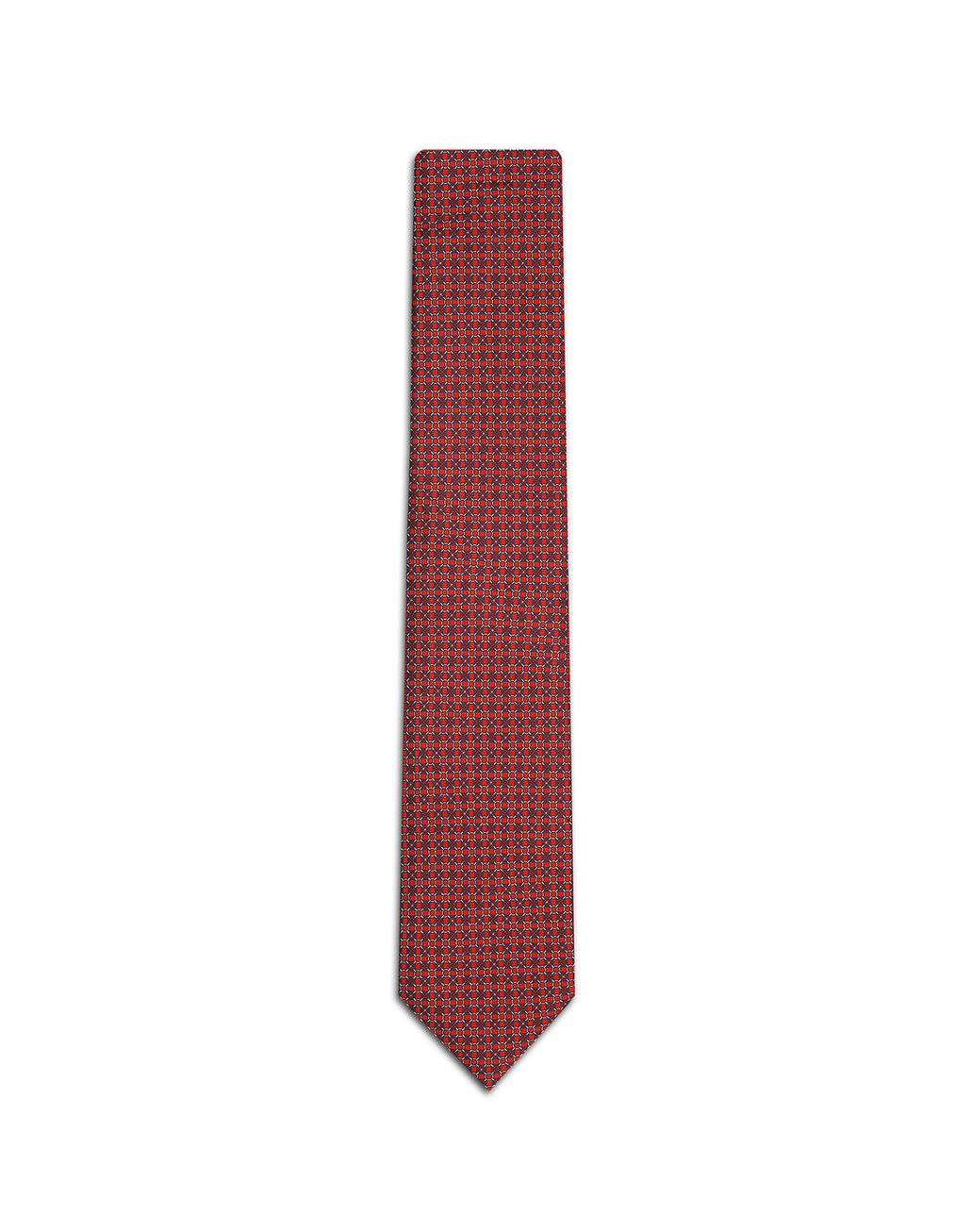BRIONI Red and Blue Design Tie Tie Man f