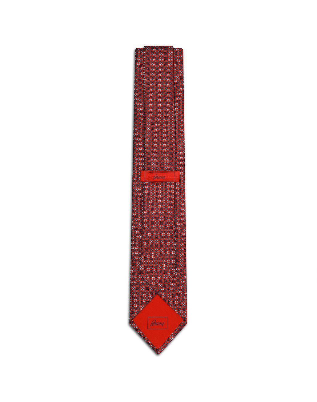 BRIONI Red and Blue Design Tie Tie [*** pickupInStoreShippingNotGuaranteed_info ***] r
