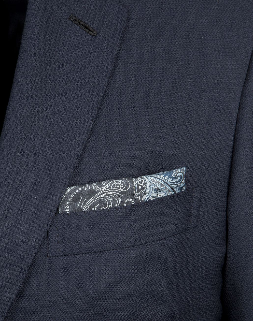 BRIONI Dark Grey and Sky Blue Paisley Pocket Square   Tie Man d