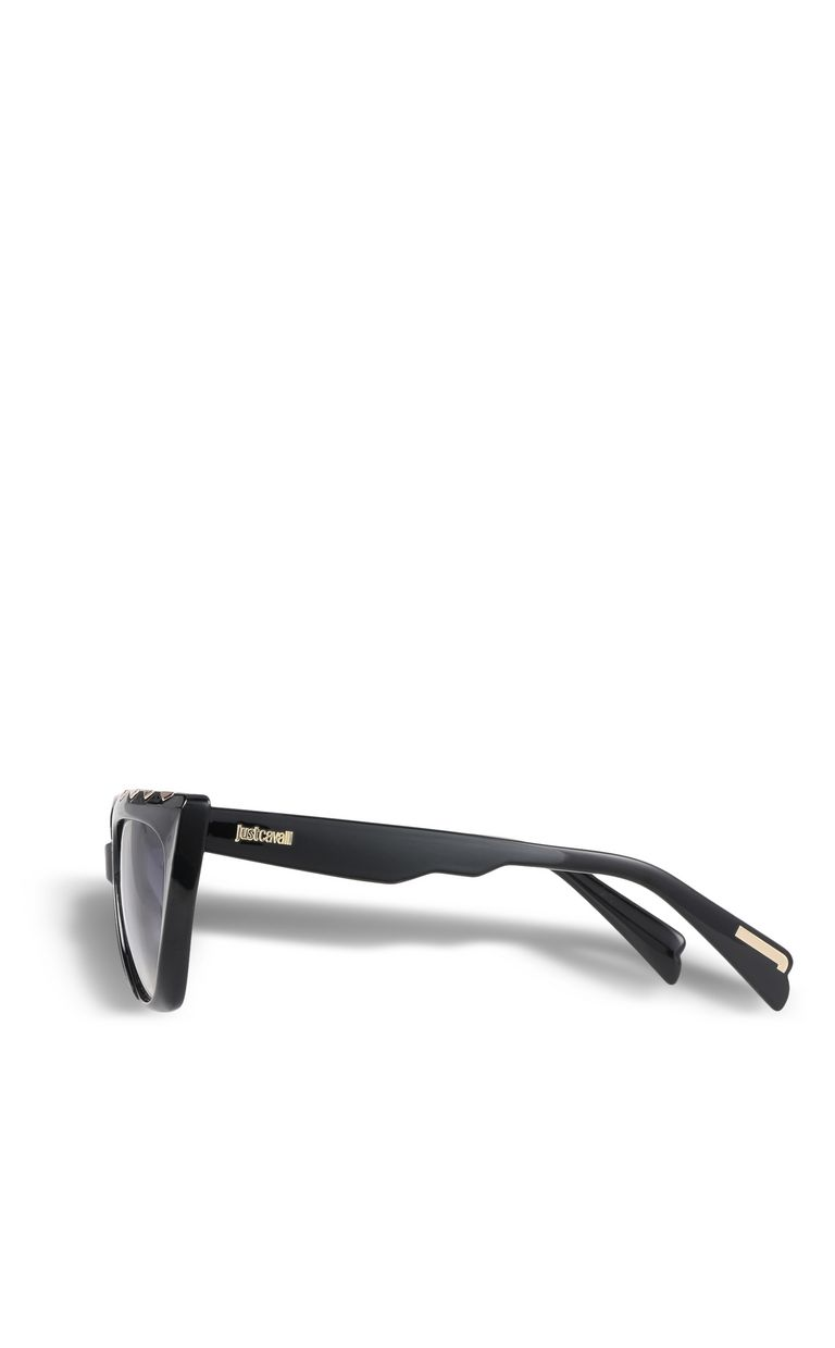 JUST CAVALLI Elongated black sunglasses SUNGLASSES Woman d