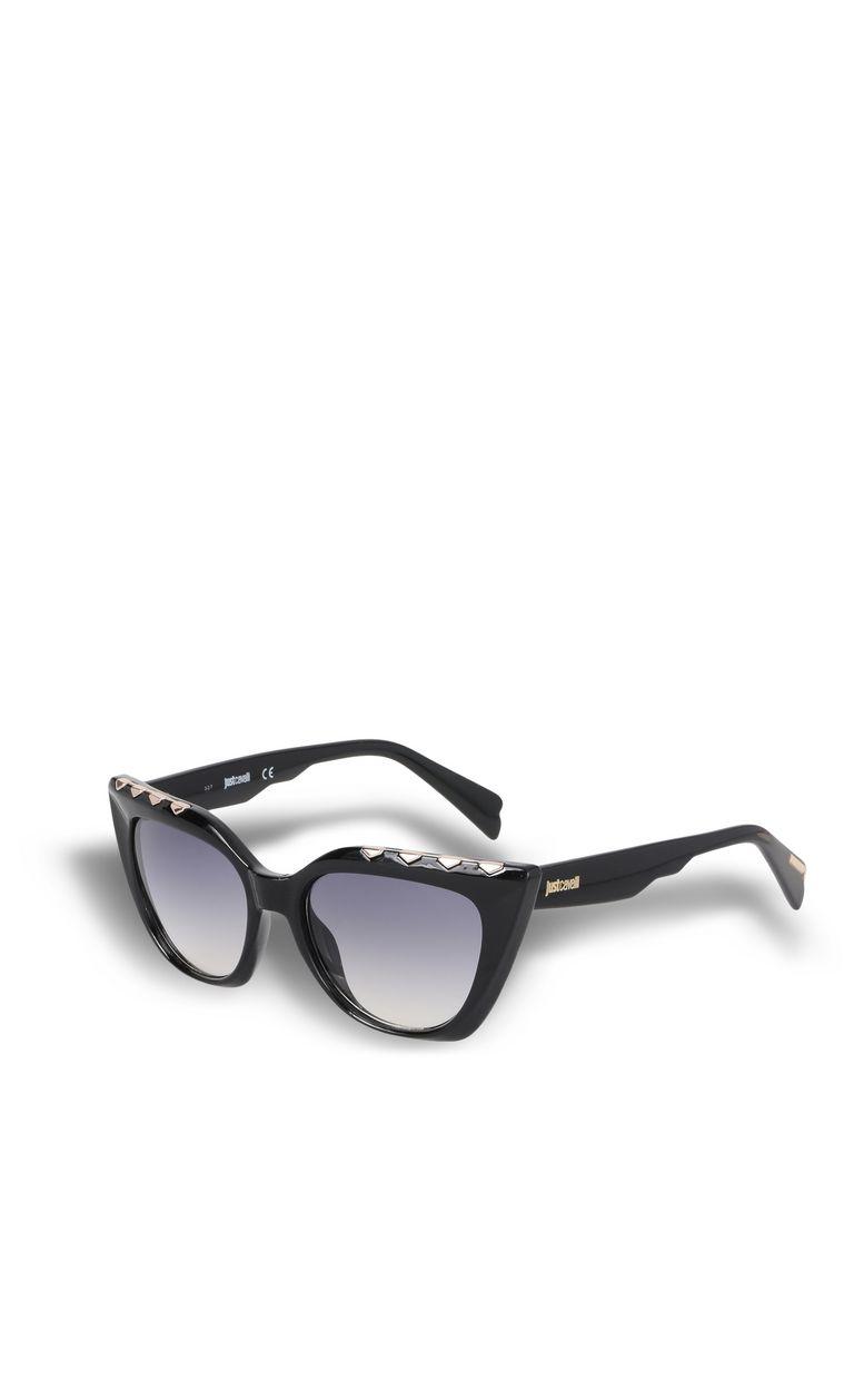 JUST CAVALLI Elongated black sunglasses SUNGLASSES Woman r