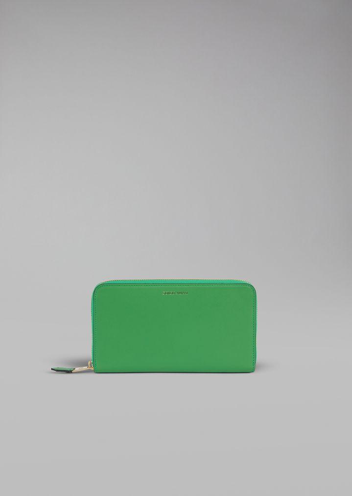 c1a386ac02 Smooth leather wallet | Woman | Giorgio Armani
