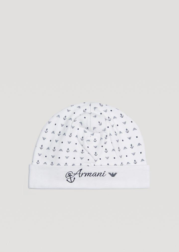 ae8bae8e7d6 EMPORIO ARMANI Cotton hat Beanie E f
