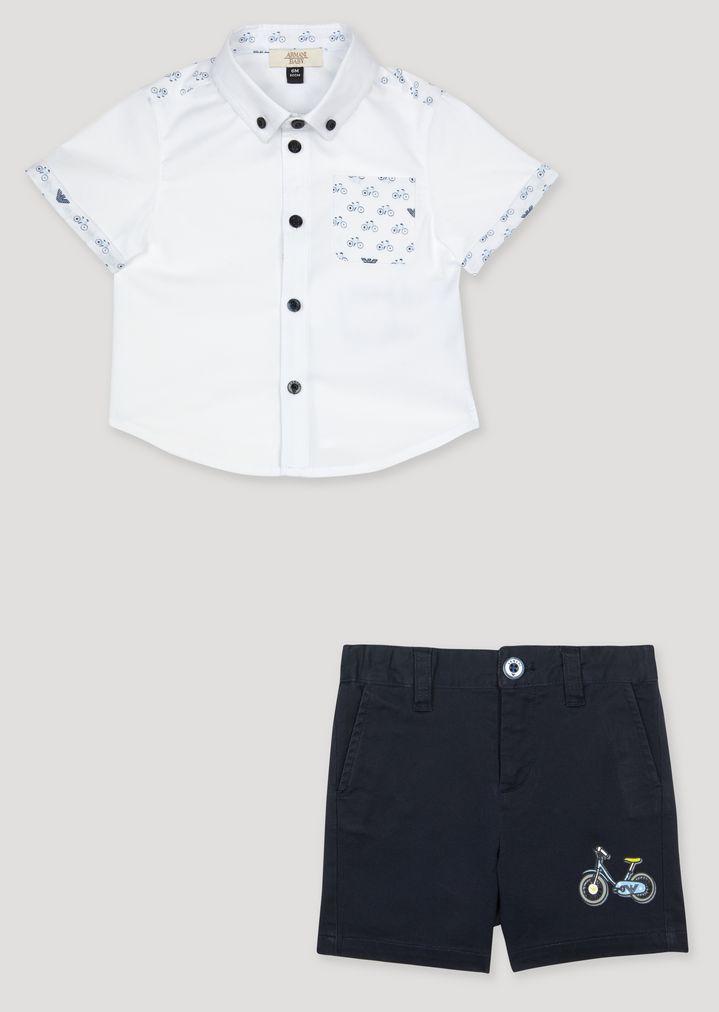 new concept c25d5 59f8e Set camicia e bermuda | Bambino | Armani Junior