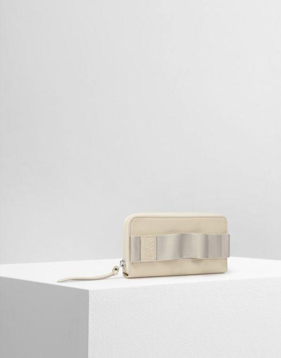 MM6 MAISON MARGIELA Calfskin and nylon wallet Wallet Woman r