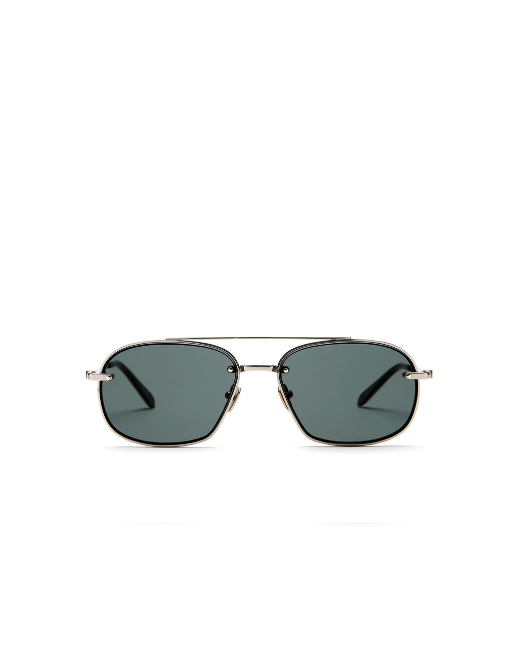 BRIONI Havana Geometric Shape Sunglasses with Grey Lenses   Sunglasses Man f