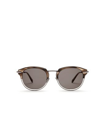 Grey and Brown Sunglasses with Grey Lenses
