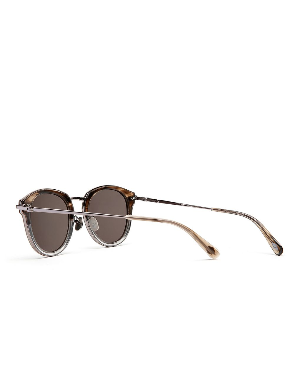 BRIONI Grey and Brown Sunglasses with Grey Lenses  Sunglasses Man d