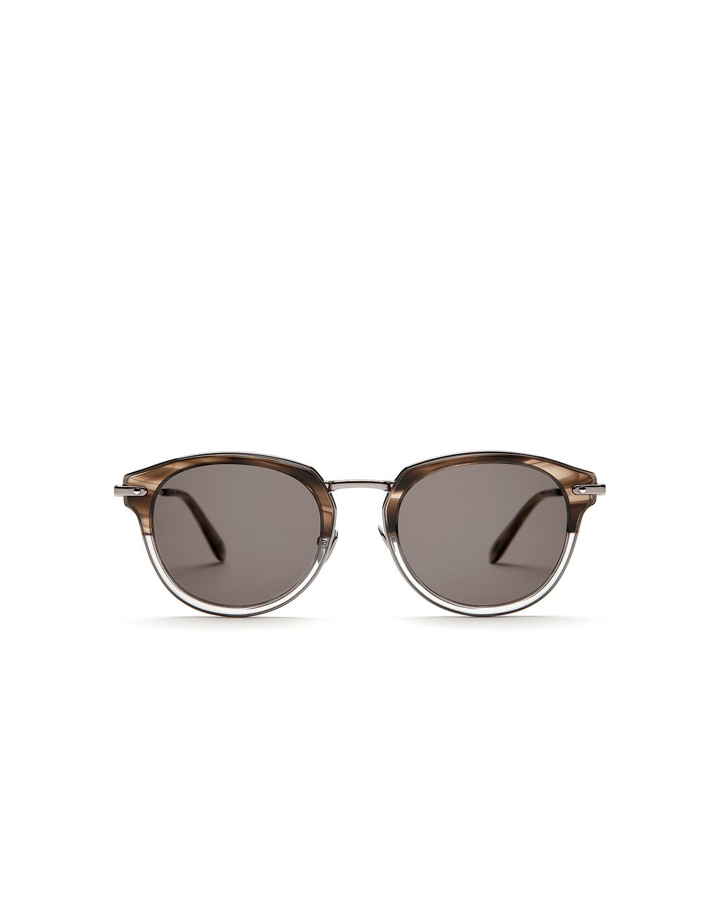 BRIONI Grey and Brown Sunglasses with Grey Lenses  Sunglasses Man f