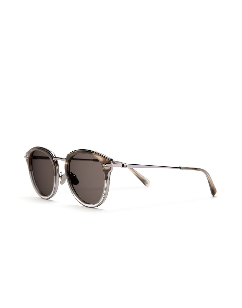 BRIONI Grey and Brown Sunglasses with Grey Lenses  Sunglasses Man r