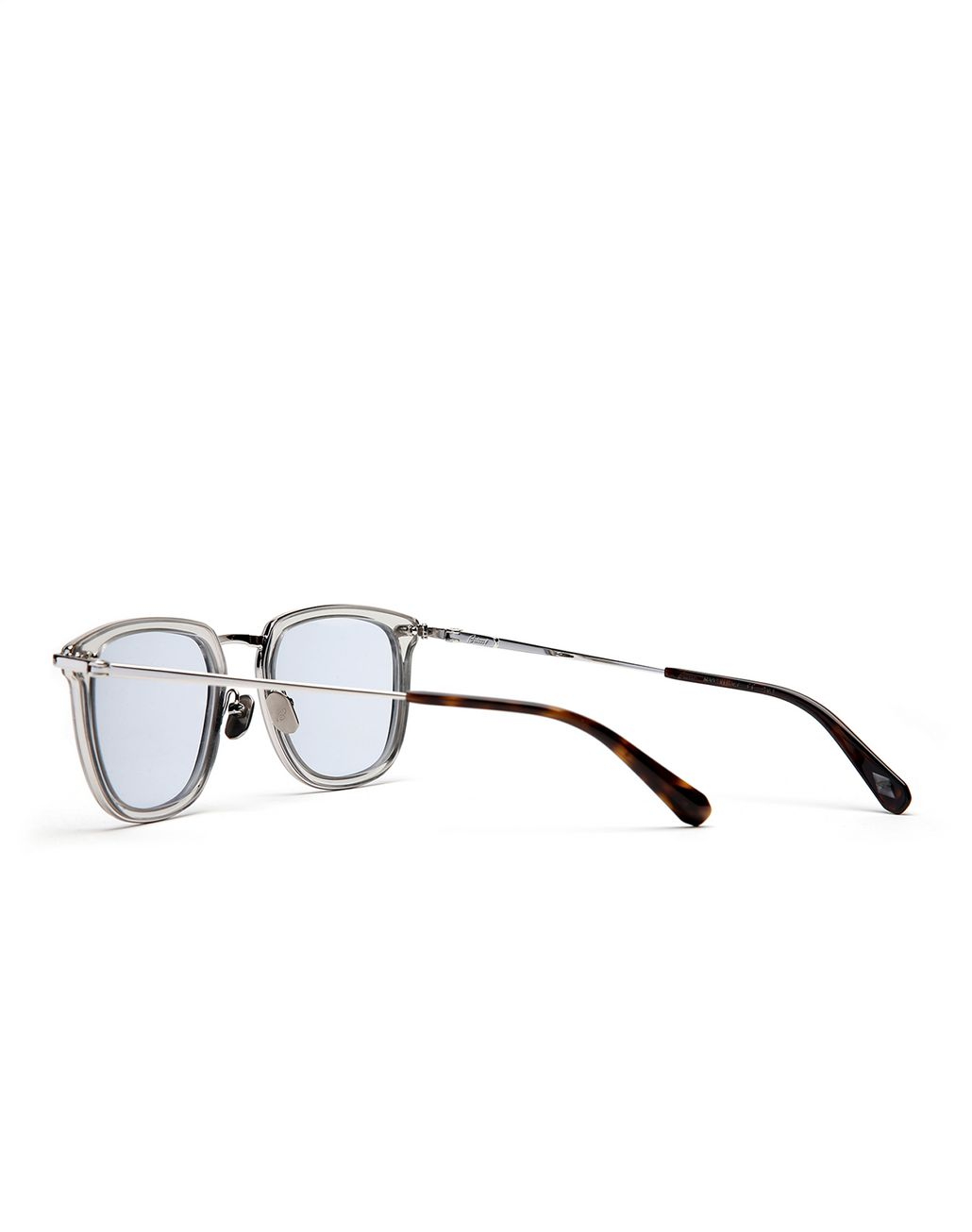 BRIONI Transparent Sunglasses with Light Blue Lenses  Sunglasses Man d