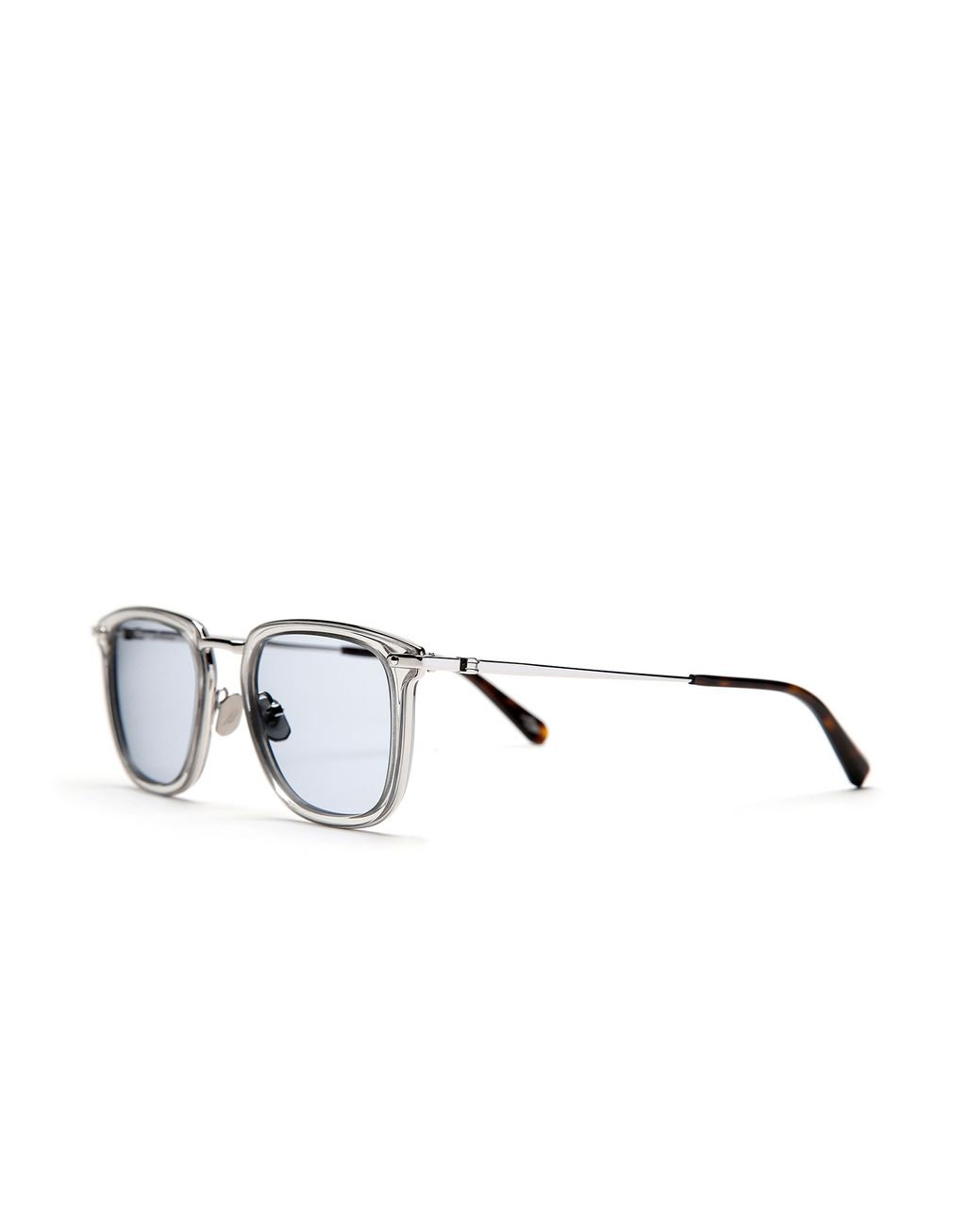 BRIONI Transparent Sunglasses with Light Blue Lenses  Sunglasses Man r