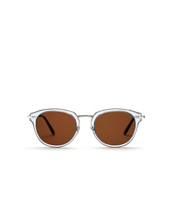 Light Blue Sunglasses with Brown Lenses