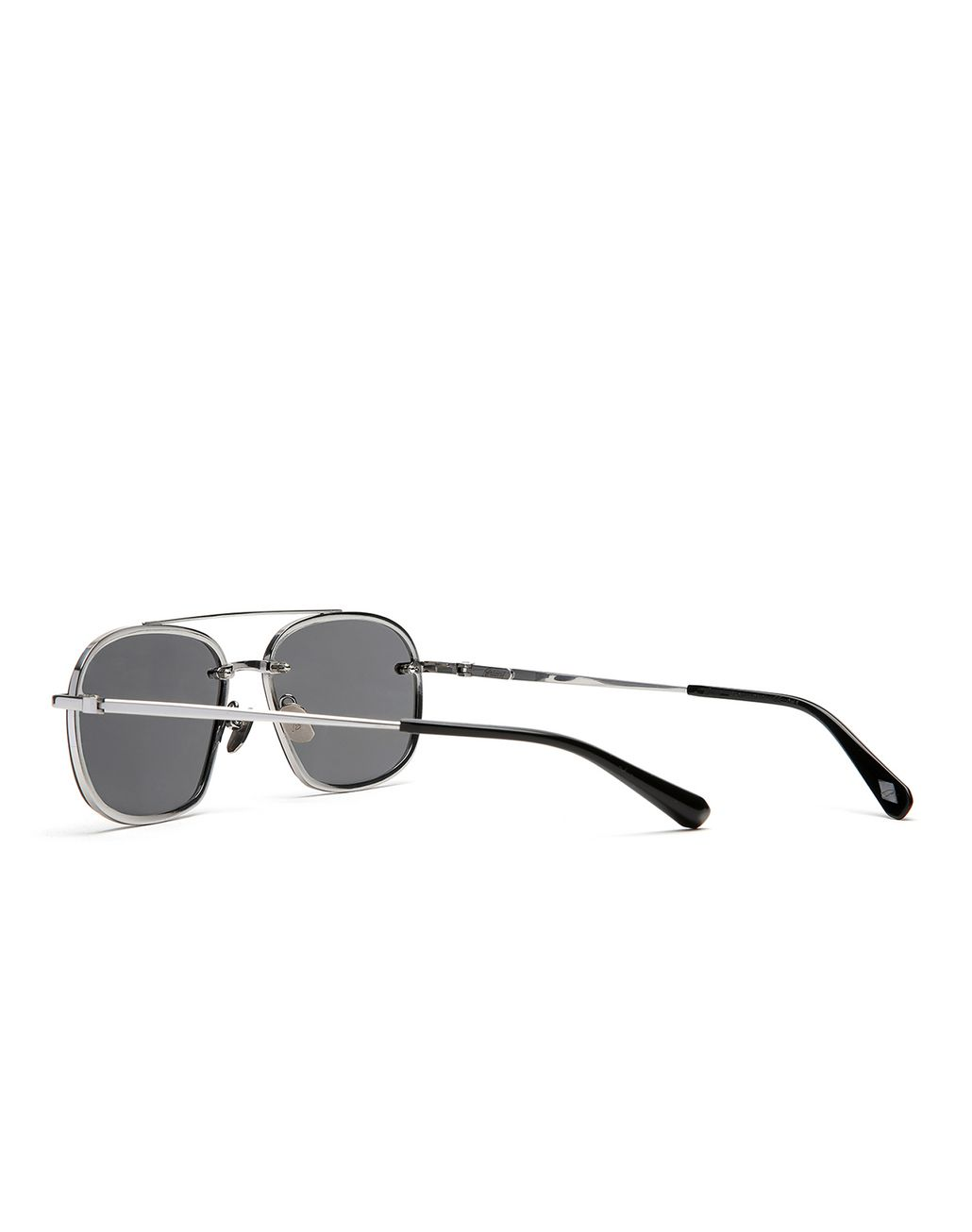 BRIONI Silver Teardrop Titanium Sunglasses with Grey Lenses  Sunglasses Man d