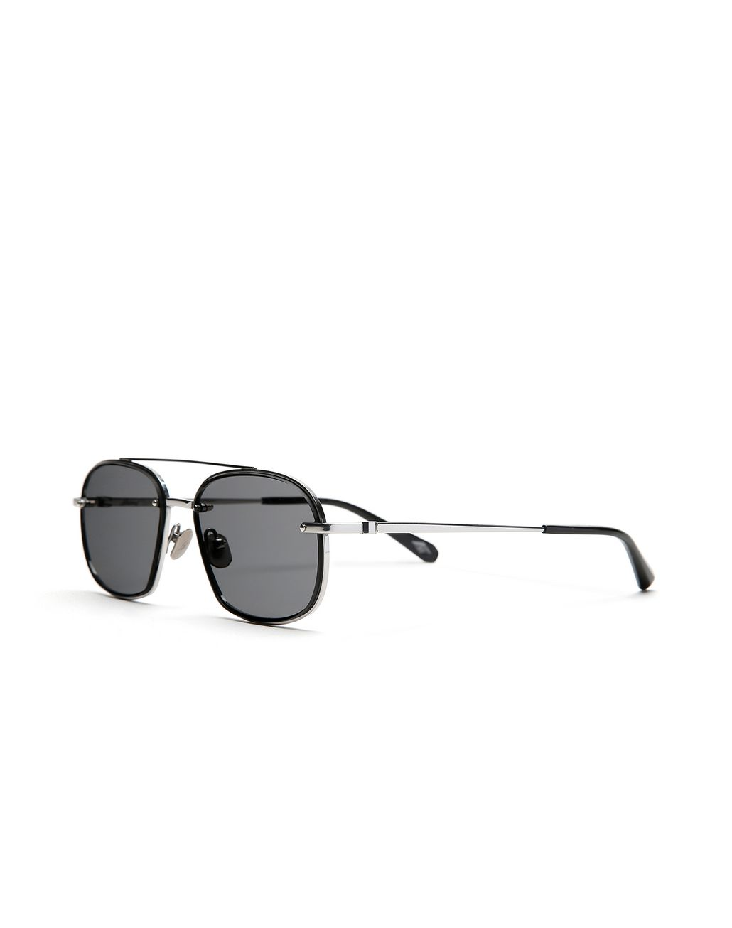 BRIONI Silver Teardrop Titanium Sunglasses with Grey Lenses  Sunglasses Man r