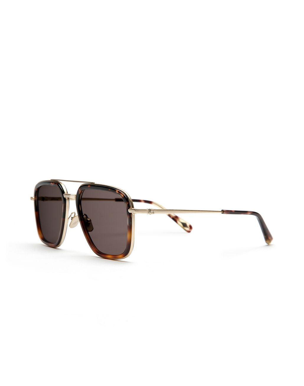 BRIONI Havana Geometric Shape Sunglasses with Grey Lenses  Sunglasses [*** pickupInStoreShippingNotGuaranteed_info ***] r