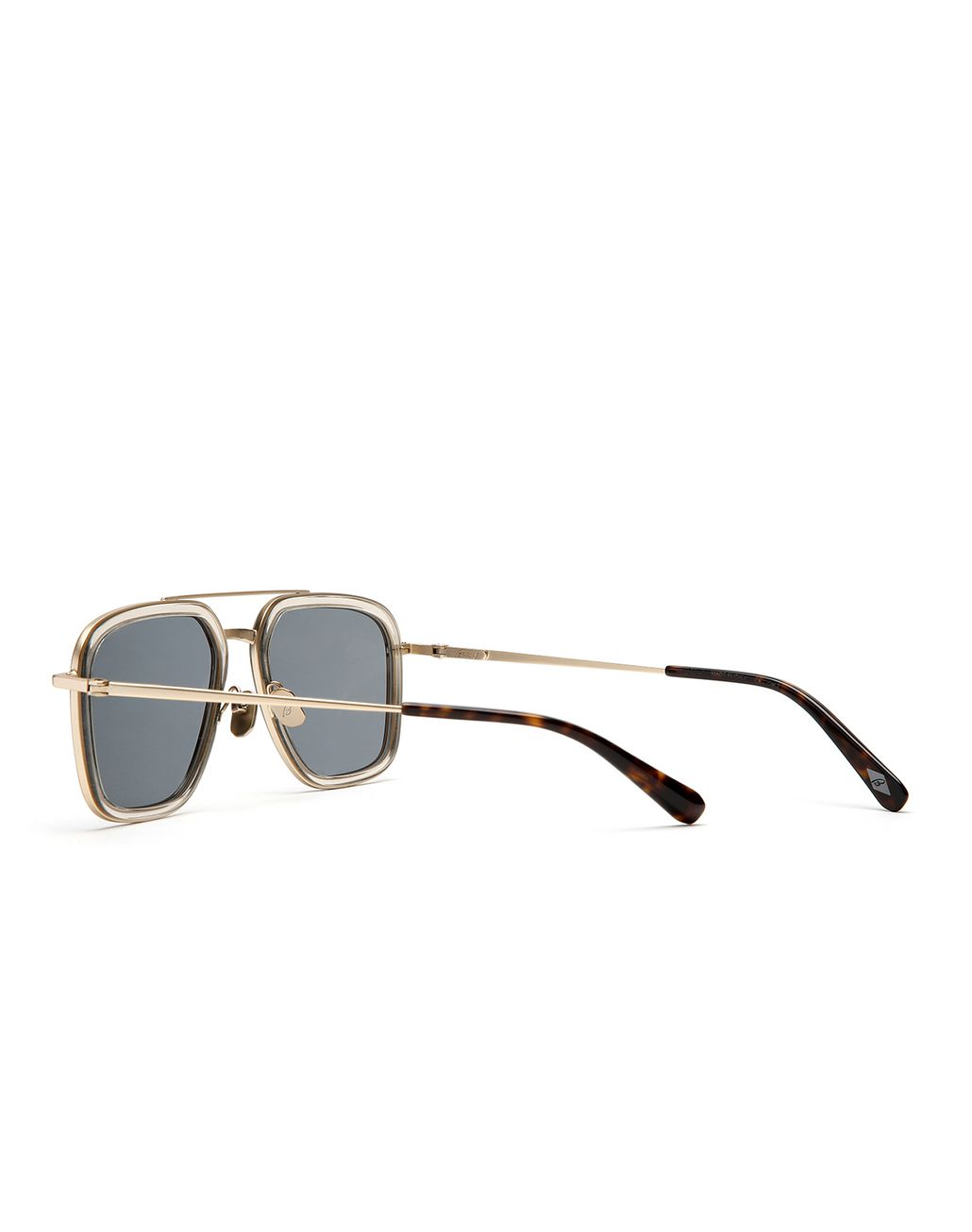 BRIONI Transparent Sand Geometric Shape Sunglasses with Green Lenses  Sunglasses Man d