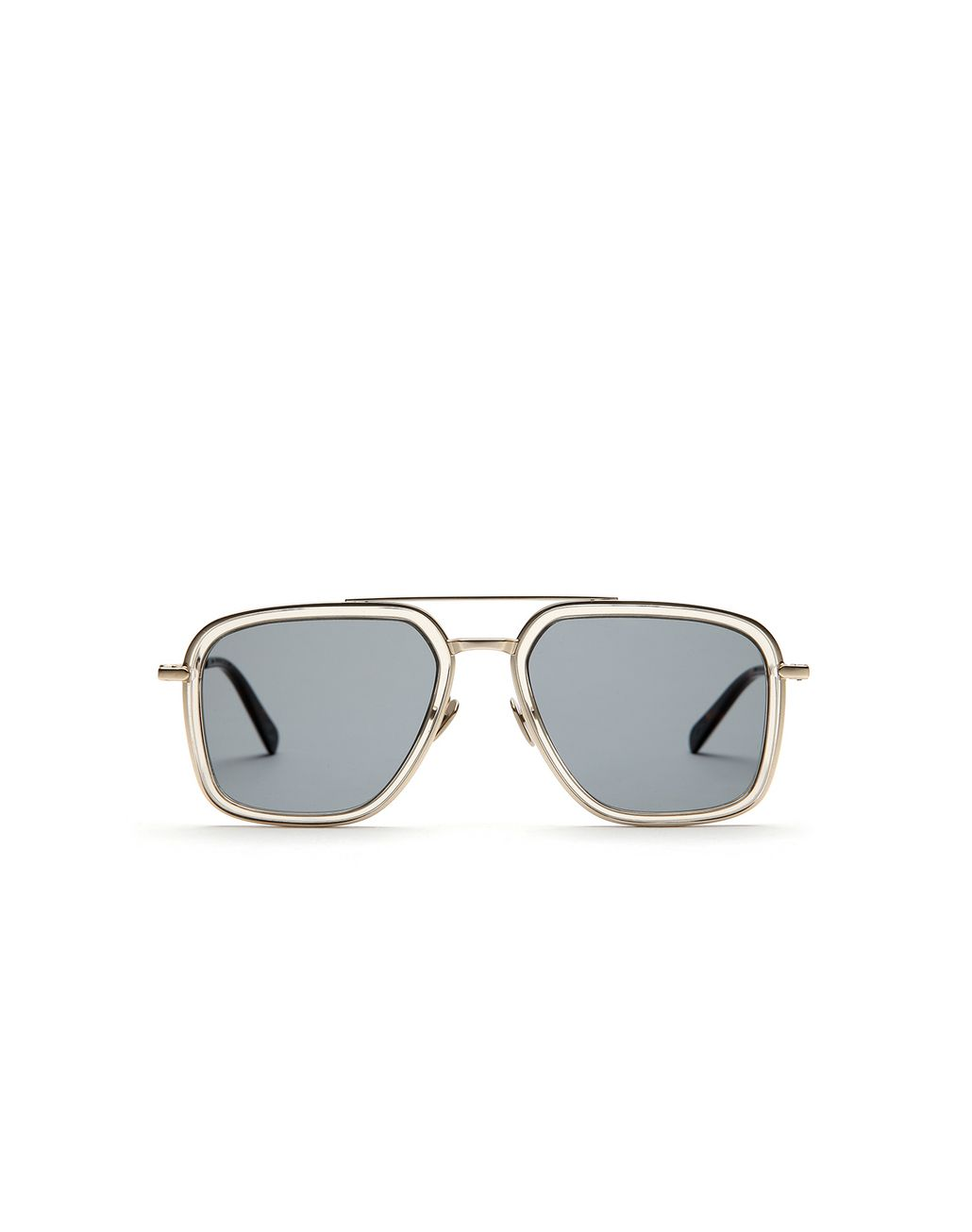BRIONI Transparent Sand Geometric Shape Sunglasses with Green Lenses  Sunglasses [*** pickupInStoreShippingNotGuaranteed_info ***] f