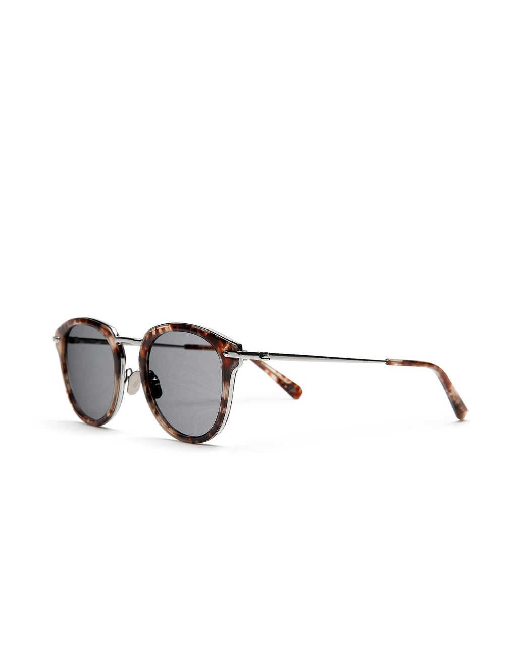 BRIONI Red Havana Sunglasses with Jungle Concept Grey Lenses Sunglasses Man r
