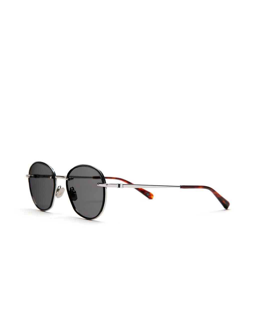 BRIONI Silver Rounded Titanium Sunglasses with Grey Lenses  Sunglasses [*** pickupInStoreShippingNotGuaranteed_info ***] r